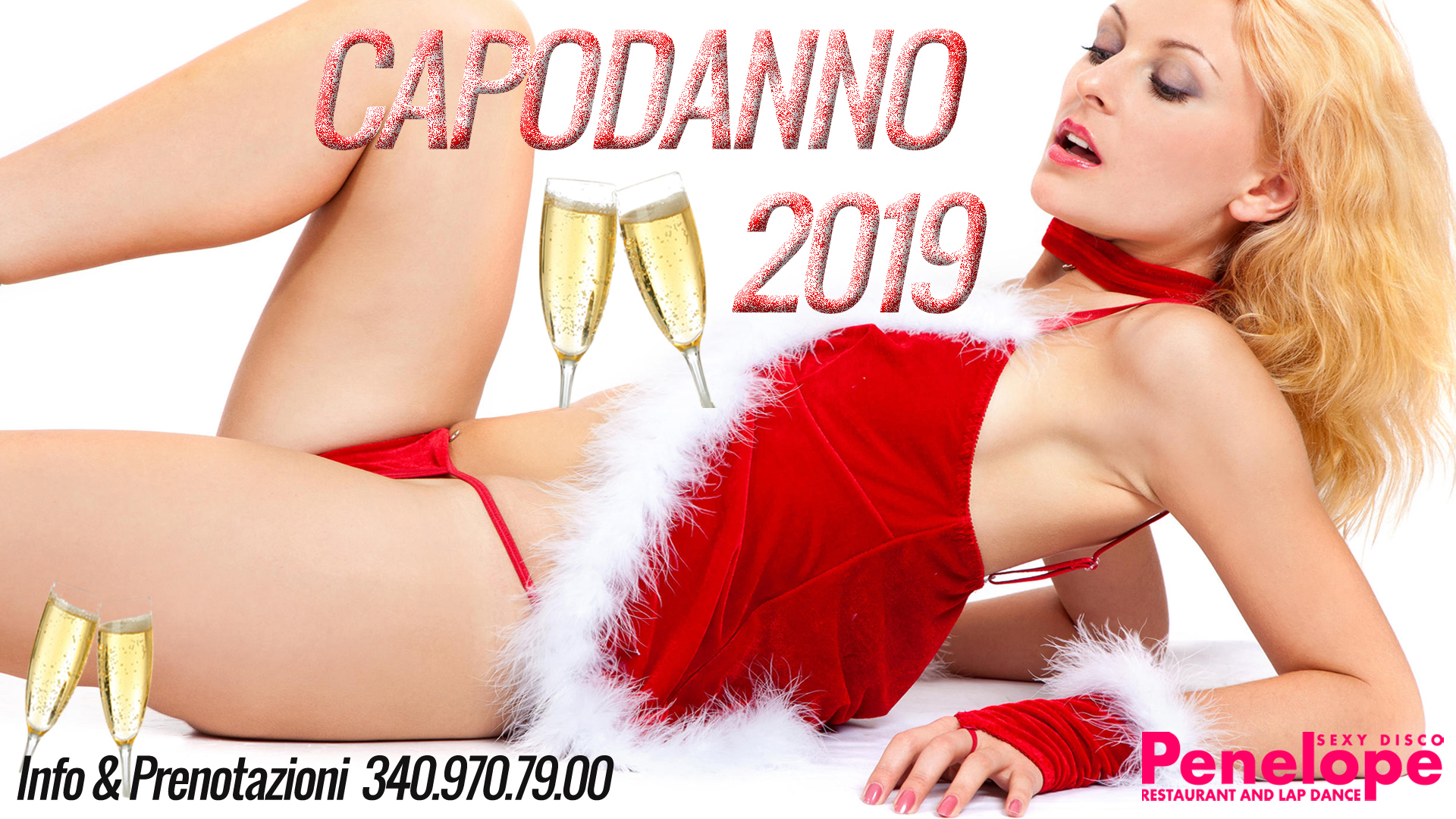 dove festeggiare Capodanno 2019. Al Penelope Sexy Disco il tuo brindisi di Mezzanotte