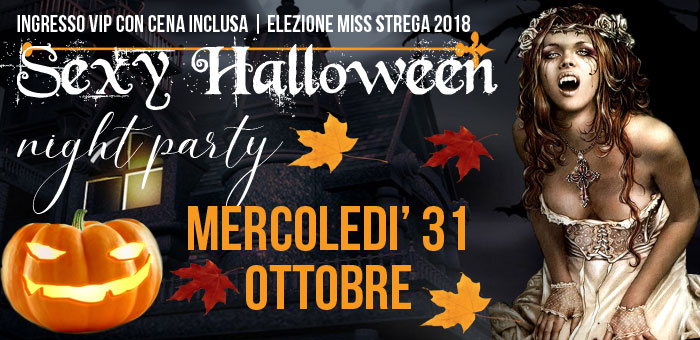 Il Sexy Halloween 2018 Night Party tra zucche streghe fulmini e musica