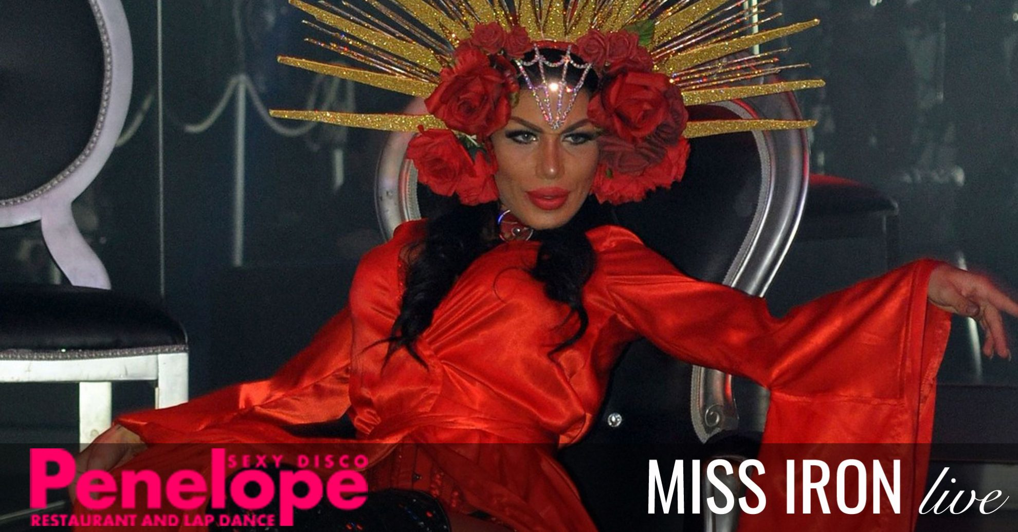 Miss Iron nel miglior lap dance night club in toscana